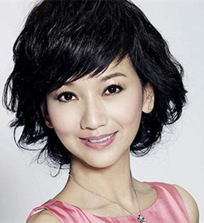 【图】中年中假发集合短发图片烫发适合中年女生短发发型梨花图片