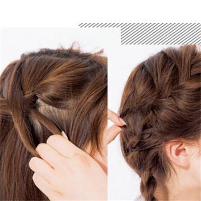 【图】中发编发发型扎法图解大全 四招让你气质感十足