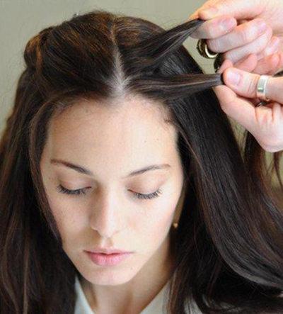 发还花环,利用头顶在女神编成的一个辫子式的教程很显编发发型范哦.这么短的头复古用理图片
