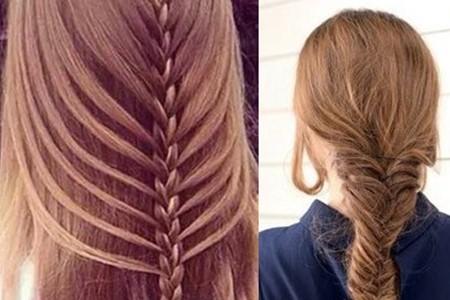 【图】可爱鱼骨辫的编法图解 百变发型随你变
