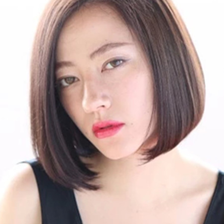 【图】女生加分短中分短发中分v女生完美头发大图片图圆脸发型图片