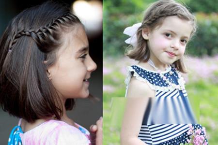 走清纯稚嫩的风格,而我们今天就来介绍八九岁小女孩的短发扎法.图片