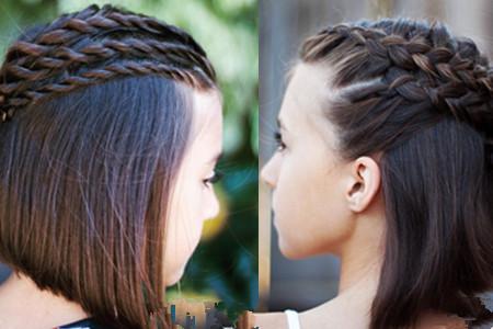 【图】小孩短发怎么扎简单好看 介绍可爱编发发型图片