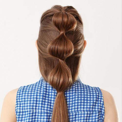 清新中长发编发发型女 秋季就要这么扎