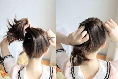 【图】一根簪子盘发图解 简单打造清爽古风发型图片