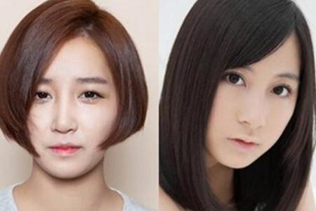 【图】圆脸中分短发直发发型 甜美清新自然风
