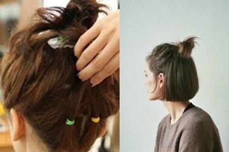 宝宝齐耳短发扎发造型:小孩子齐耳短发怎样扎比较好看呢?图片
