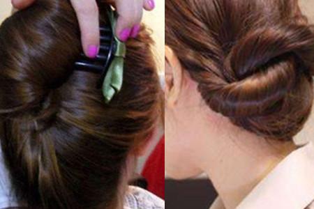 空姐盘发教程_【图】空姐发型扎法步骤 教你如何扎头发