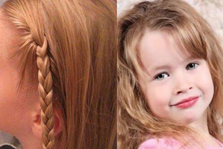 【图】女大童发型有哪些三种流程发让你的宝小女孩长发编发公主图片