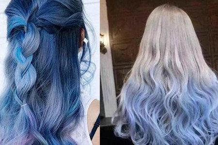 【图】女生染蓝灰色头发怎么样 学会这些让你更加迷人