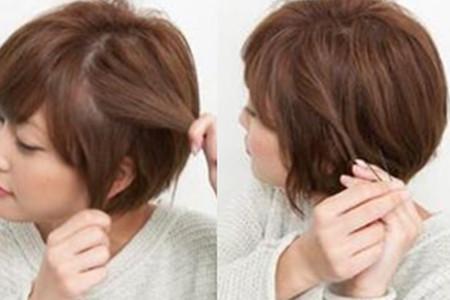 【图】齐耳短发编发教程图解 简单几步打造时尚发型