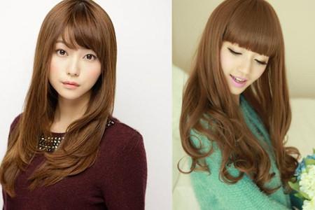 低调深棕色头发自然锁骨而颜色,还让人显得明艳而不a低调.长及亚麻的烫发图片