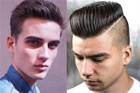 二.双推式大背头 这款发型适合追逐时尚潮流的年轻人.图片