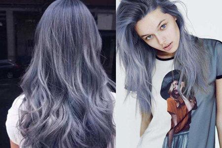 【图】女生染蓝灰色头发 让你变身为时尚达人