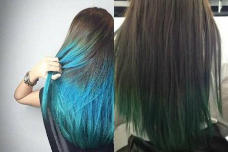 【图】闷青色渐变头发图片展示 什么样的染发步骤才是