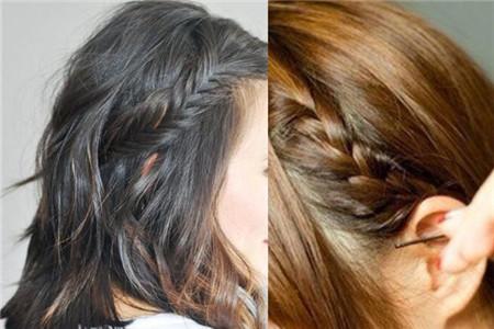【图】短发辫子编发讲解 好看的发型图片分享