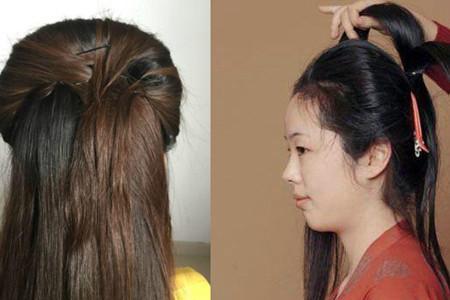 俏皮而又可爱的女                    上图打造的这款简单古风发型.图片