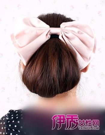直发盘发发型图片大全 夏季简单盘发 中长直发发型diy图片