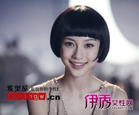 人气女明星齐刘海直发发型图片图片