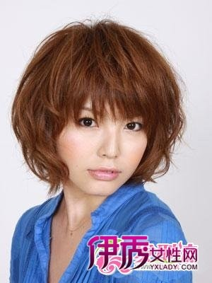 大圆脸发型设计图片 女生短发发型look