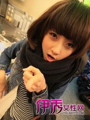 长发刘海发型图片+最新平刘海减龄发型金坛烫发不错的理发店图片