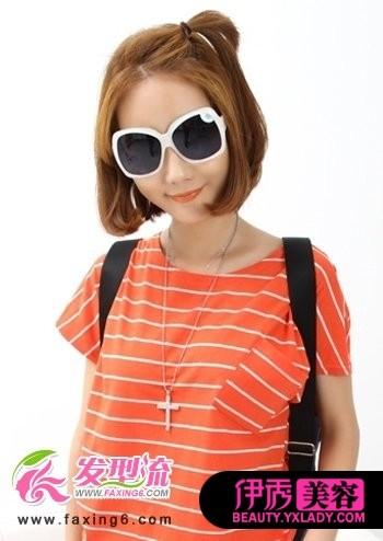 a发型发型发型设计流行轻盈夏日(11)_打造短发发型短发图片