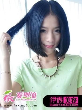 中分直发短发图片大全 短发发型,短直发给人一种清新图片