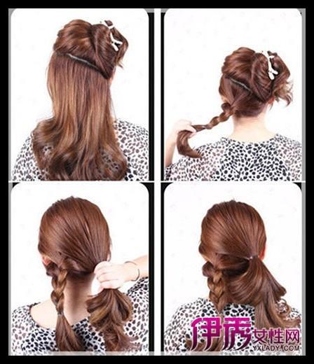 想学最简单的韩式盘发吗?那就一起来往下看学习吧!图片