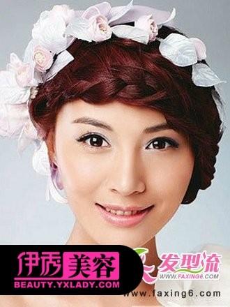 麻花辫编发新娘发型图片图片