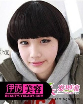 韩国女生流行发型空气短发刘海短发烫发发型2018图片