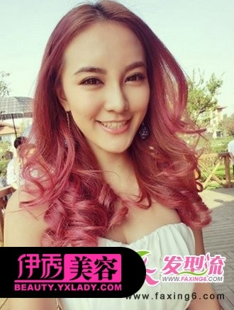 红色染酒女生头发短头发有刘海吗图片