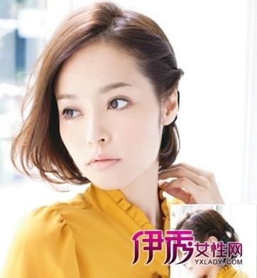 想让短发发型变得有造型?韩式短发编发教程技巧,蝴蝶结绝美发型搭配!
