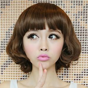 盘点韩式女生短发烫发短发烫发发型图片-2014短发烫发发型图片