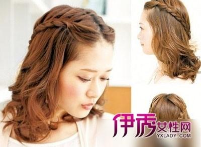短发如何扎头发好看刘海编发与别不同图片