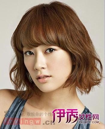 最新韩式短发烫发发型图片