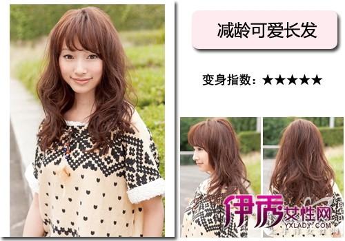 圆脸适合的长发发型设计图片