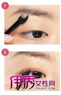 单眼皮化妆技巧图解-怎样打眼影 如何打眼影 怎么打眼影 眼影打图片