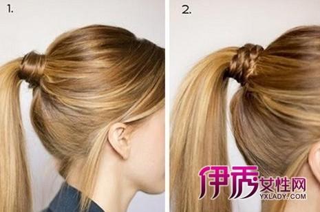 流行发型 / 正文    从马尾中拉出一束头发,绕在马尾上,这是最简单的图片