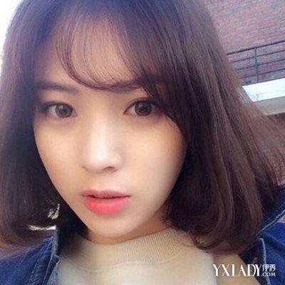 短发空气刘海侧脸头像韩范 甜美空气刘海搭配教程