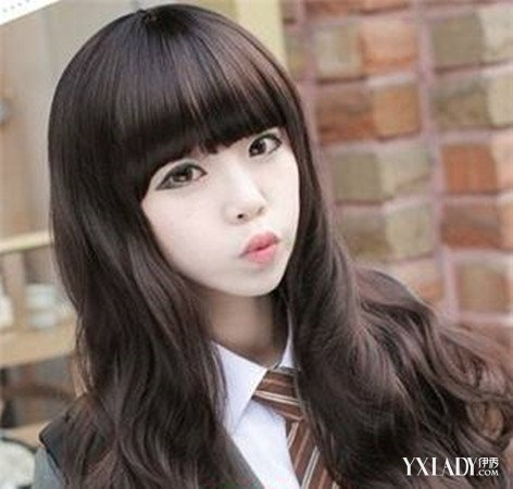 【图】女生圆脸脖子短适合的发型图片 完美修颜不在话
