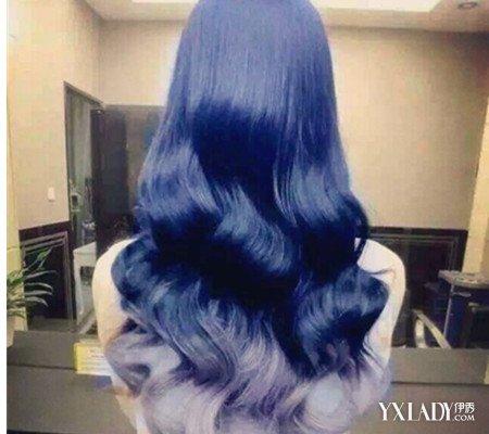 蜡染紫蓝色头发图片 7个步骤让你轻松美一夏