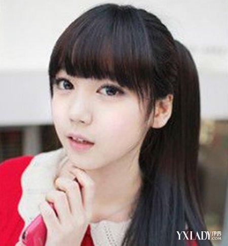 【图】女生扎马尾齐刘海发型图片 几种发型让你卖萌又图片
