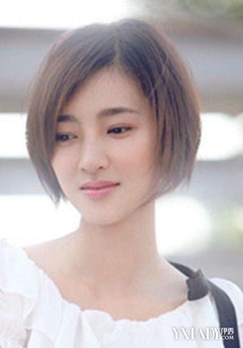 无刘海短发女生发型分享 让你知性优雅变女神图片