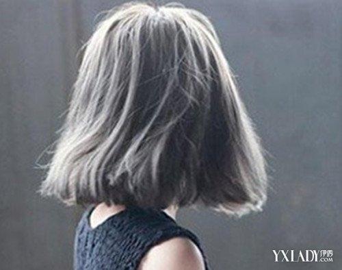【图】染色浅灰色头发图片欣赏 齐肩的短发发型