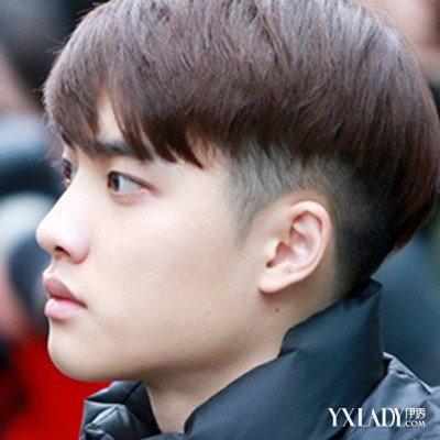 男生锅盖头v字发型铲边图片展示 四款发型让你演绎帅气男生
