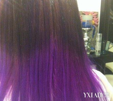 紫色头发褪色后是什么颜色 如何护理染色的头发图片