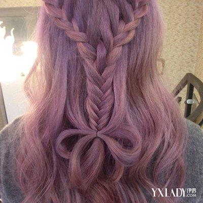 紫色灰色头发图片欣赏 如何保护头发?
