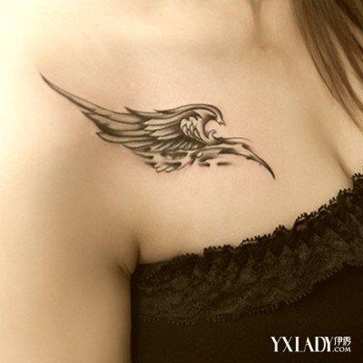 【图】超美锁骨翅膀纹身图片欣赏 纹身的三大坏处要知道图片