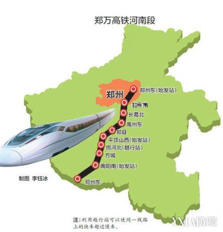 郑万高铁将开工 规划路线图和站点设置图曝光