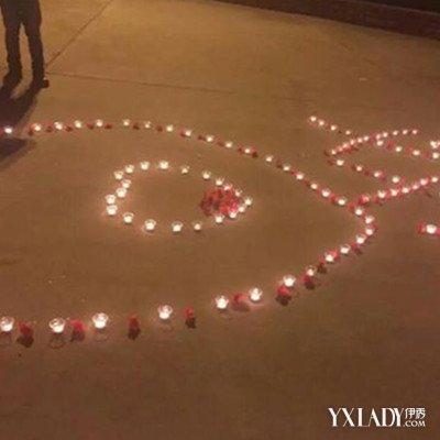一为了向心爱的女生,准备了近千根蜡烛并摆成心形,没想到苦情的一幕